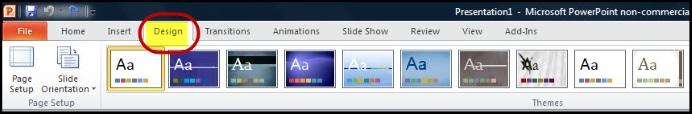Powerpoint Design Menus